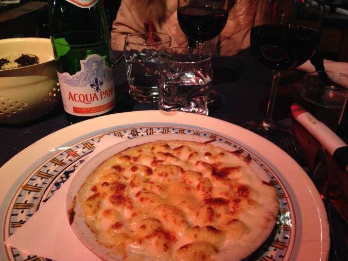 God mat på Osteria Santo Spirito på Piazza Santo Spirito