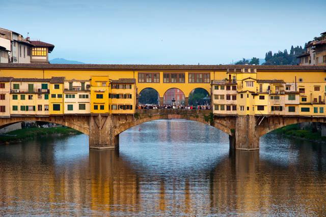 Ponte Vecchio från Ponte Santa Trinita