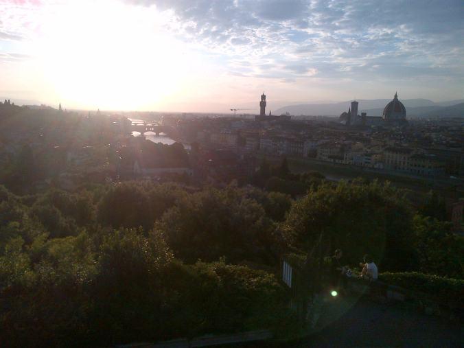 Vacker vy ifrån Piazzale Michelangelo